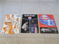 (2) 1966 Celtics/Pistons and 1971-72 Warriors/Supersonics basketball programs + 1976 NY Nets yearbook