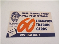 1952 Wheaties Ted Williams baseball advertisement  Neat!