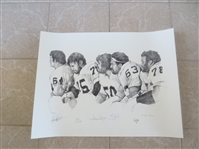 "Autographed Oakland Raiders NFL Football Artist Proof 18"" x 24"" Gene Upshaw, Art Shell +"