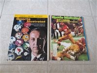 (2) 1964 and 1974 Interesting Issues of Sports Illustrated NFL Championship and USC vs. Notre Dame