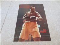 (3) Color Boxing Insert/Photos of Joe Frazier, George Forman, and Sugar Ray Leonard