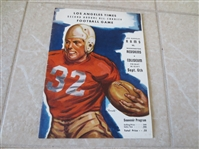 1946 Los Angeles Rams First Game Ever program