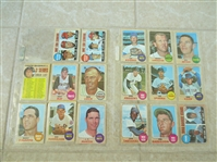 (25) 1968 Topps baseball cards from VENDING  Beautiful  Send to PSA?