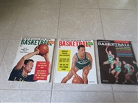 1954, 55, 58 Basketball Magazines Beautiful  Cousy, Gola covers