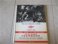 1963-64 Los Angeles Lakers Illustrated Yearbook Media Guide with Black and White Photos West, Baylor
