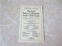 1910-11 Eastern Inter-Collegiate Basket Ball League schedule Columbia, Cornell, Princeton, Yale, Penn