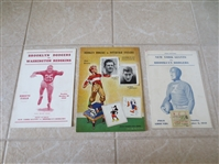 (3) 1942 Brooklyn Dodgers football programs plus one stub  Very nice condition!