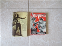 1950 The Big Fights boxing book + Jack Johnson Autobiography book