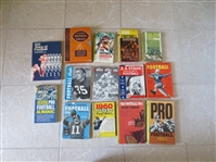 (14) old football softcover books Minimum bid only $5