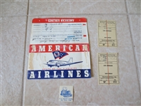 1945 American Airlines Package with tickets, hotel, postcards  NEAT!