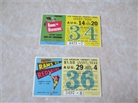 1948 and 1949 Los Angeles Rams vs. Washington Redskins L.A. Transit Lines tickets