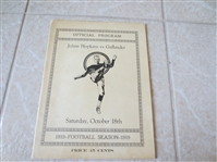1919 Johns Hopkins vs. Gallaudet (Deaf School) football program  NEAT!