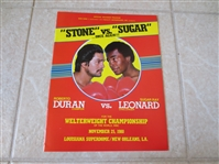 1980 Roberto Duran vs. Sugar Ray Leonard boxing Championship program