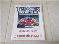 1988 Tyson vs. Spinks Heavyweight championship program Trump Plaza  Beautiful condition