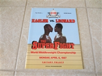 1987 Hagler vs. Leonard Middleweight Championship boxing program   beautiful