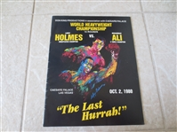 1980 Larry Holmes vs. Muhammad Ali World Championship Boxing Program