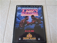 1989 Tyson vs. Williams World Heavyweight Championship Boxing Program