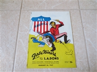1947 Los Angeles Dons at San Francisco 49ers AAFC Preseason Football program