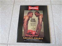 1989 Leonard vs. Hearns II The War boxing program