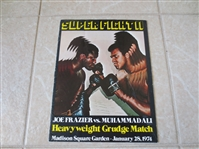 1974 Joe Frazier vs. Muhammad Ali Heavyweight Grudge Match boxing program