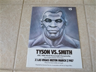 1987 Tyson vs. Smith World Heavyweight Championship Boxing program