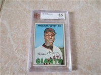 1967 Topps Willie McCovey baseball card #480 Beckett Grading 6.5  Ex-MT+