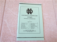1949 University of Notre Dame football media guide  RARE!