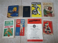 (8) 1930s and 1940s Football Guides and Books