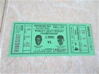 1963 Sonny Liston vs. Floyd Patterson Heavyweight Championship Full Ticket Mint condition