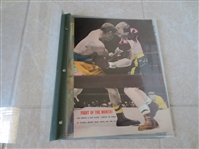 Early 1950s Ring Magazine Boxing Covers Cassius Clay Ali Liston