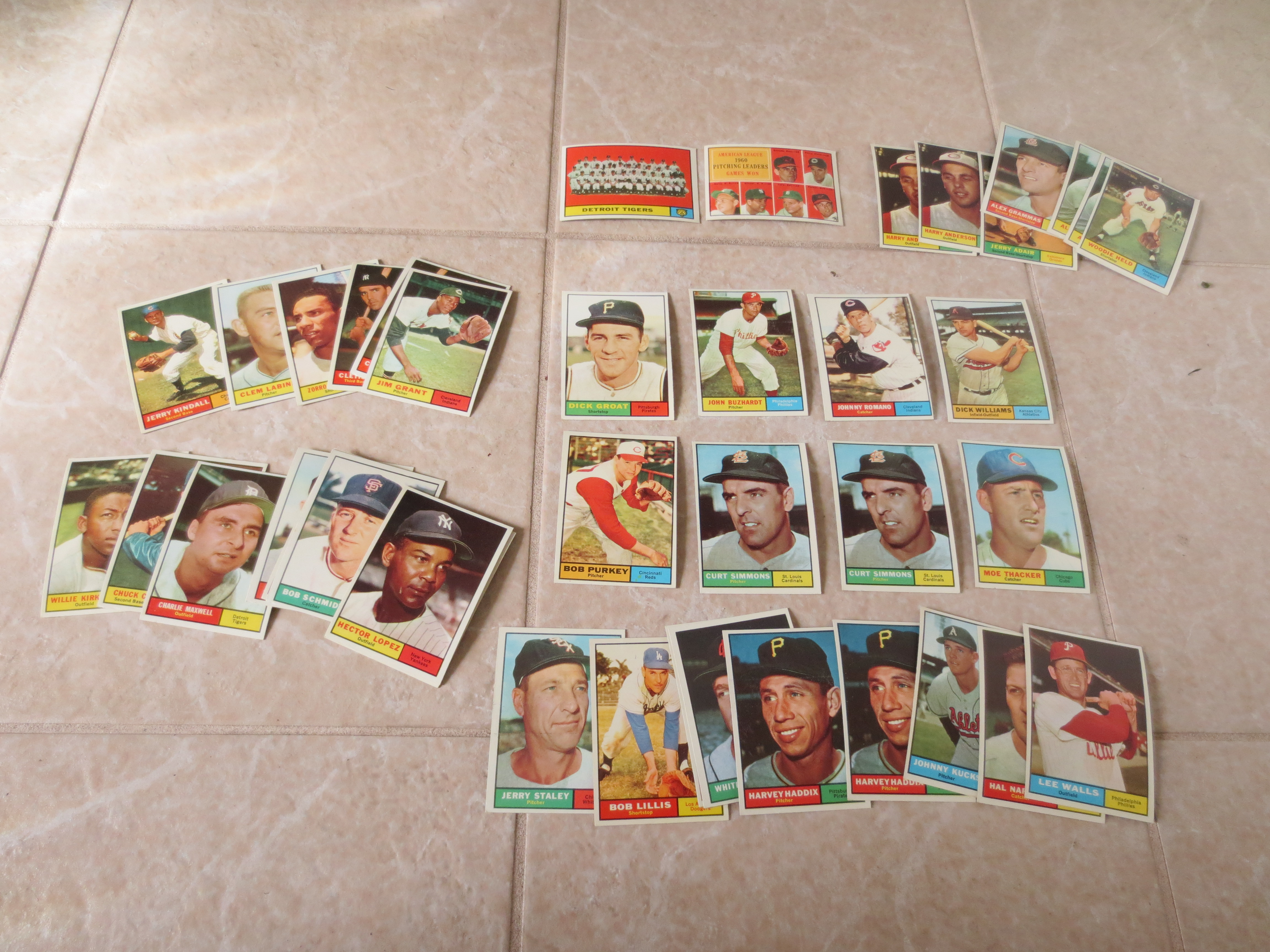 Lot Detail 40 1961 Topps Baseball Cards In Super Condition