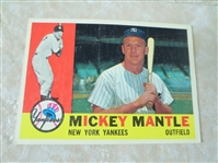1960 Topps Mickey Mantle baseball card #350 in very nice condition
