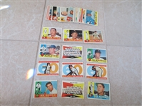 (43) 1960 Topps Last Series #507-572 baseball cards in near mint condition!