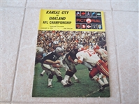 1970 AFL Championship program  Kansas City vs. Oakland