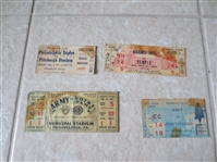 (4) Vintage Pro and College Football tickets: Eagles/Steelers, Army/Notre Dame, and more