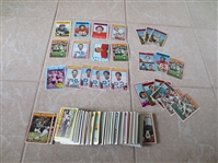 (235) 1972 Topps Football cards with Hall of Famers and stars