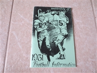 1949, 50, 51 University of San Francisco Football Media Guides   Tough to find!