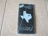 1952 Dallas Texans football media guide  One year wonder!