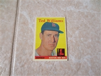1958 Topps Ted Williams baseball card #1  Near mint due to centering