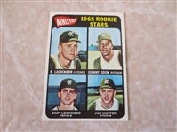 1965 Topps Jim Hunter rookie baseball card #526 in beautiful condition!